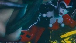 Harley Quinn sendo enrabada